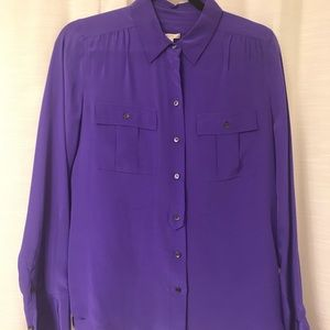 Purple Silk J.Crew Blouse